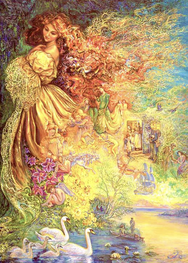 """Dress of day Dreams 3"" par Josephine Wall                                                                                                                                                                                 More"