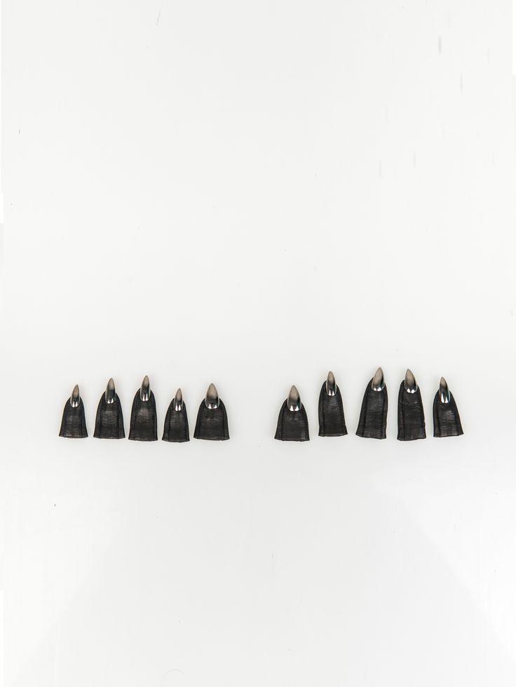 MAJESTY BLACK , Talon Tips Gunmetal  #shopigo#shopigono17#womenswear#ss15#madonna#majestyblack