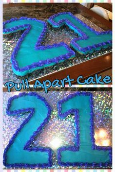 Birthday cupcake cake Can use which ever numbers you need