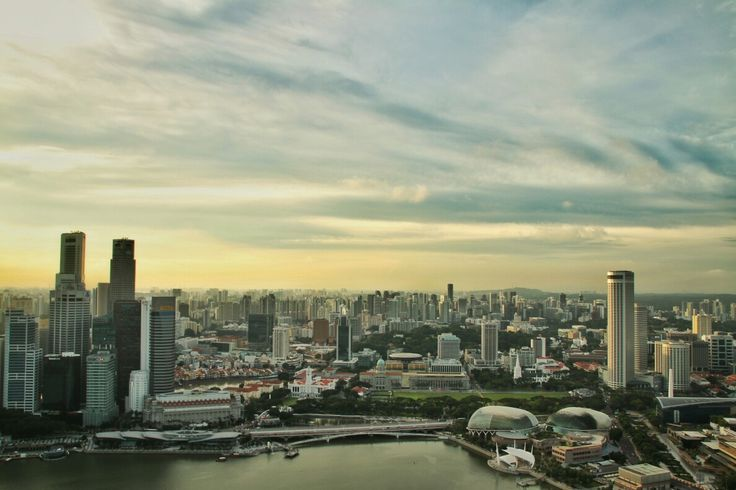 Singapore Panorama from Marina Bay Sands Level 56