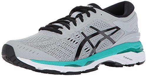 9d2116a3c17e9 ASICS Womens GelKayano 24 Running Shoe Mid GreyBlackAtlantis 85 ...