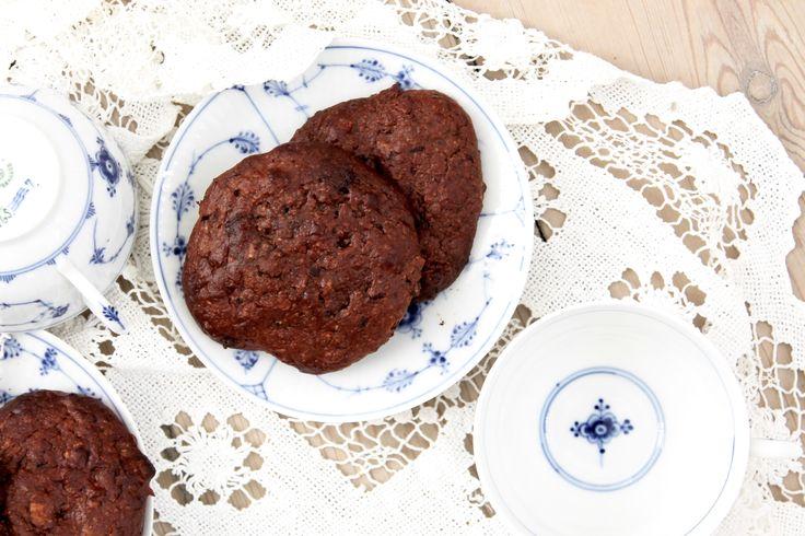 Sunde chokolade cookies // Healthy chocolate cookies