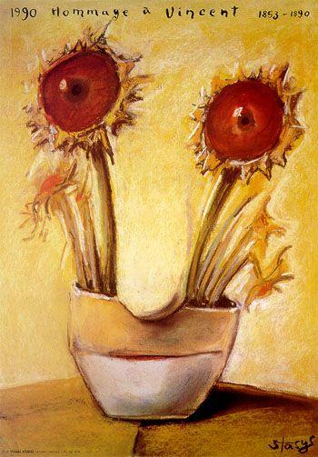 Stasys Eidrigevicius: Hommage a Vincent, 1990.