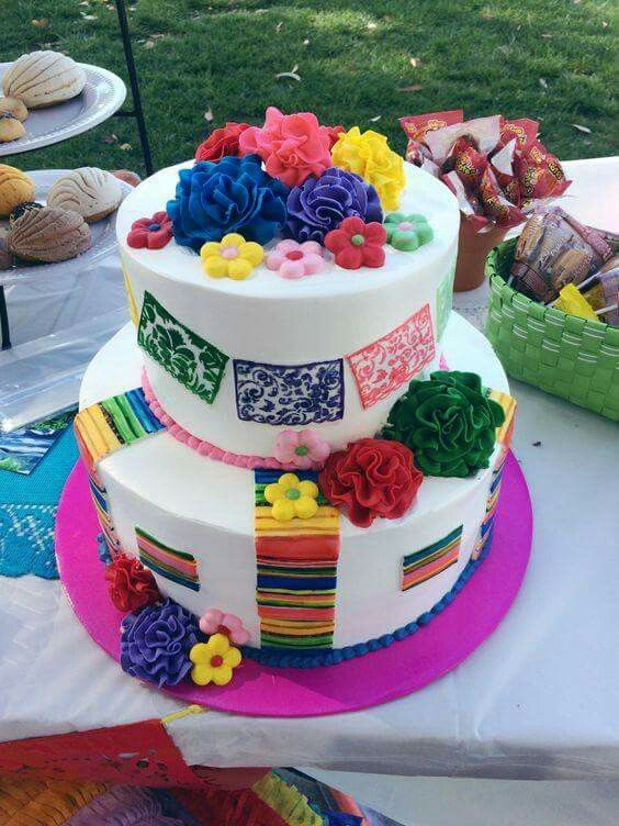 Image result for mexican theme birthday cake