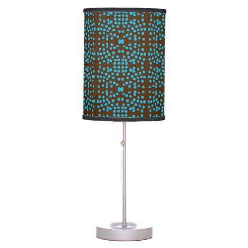 """Chocolaqua Polka Dot"" Lamp in a box. Bulb is purchased separately."