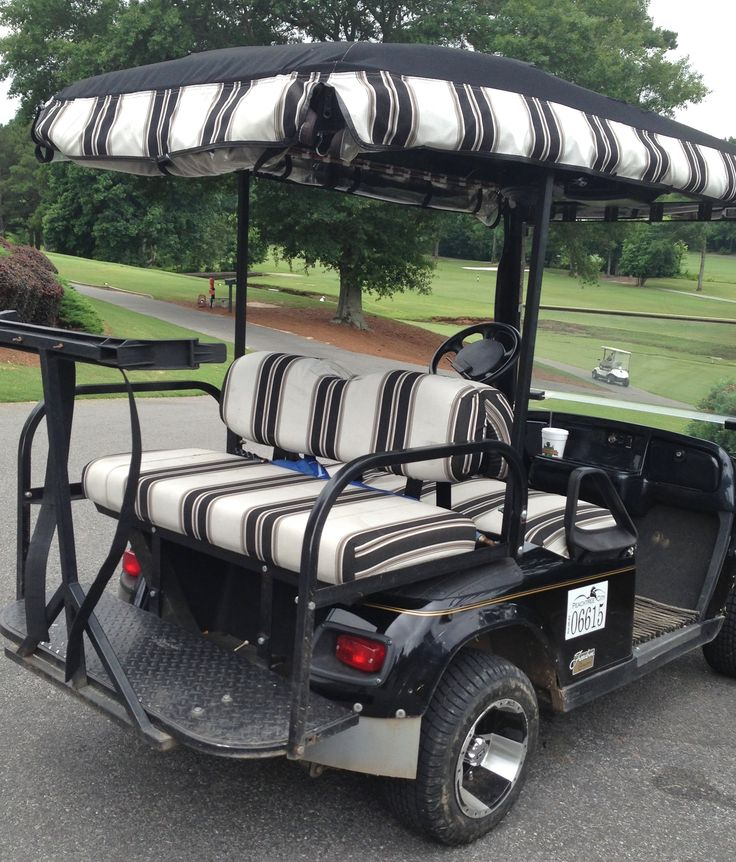 You can match your Sunbrella golf cart seat covers with your golf cart enclosure.