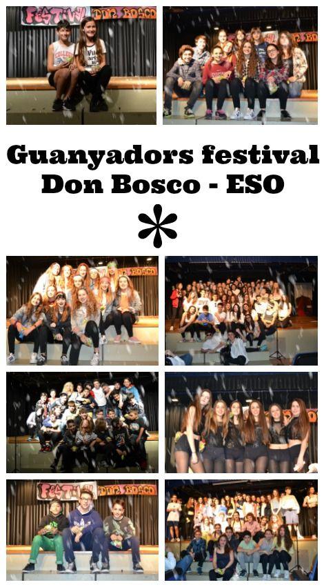 Guanyadors del Festival Don Bosco dels alumnes de l'ESO