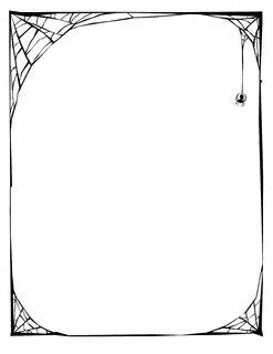 Spider Web Border (Clip Art Etc.)