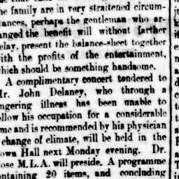 J. B. Stanway stepped in to perform at late notice in 'The return of the wanderer' for the Hotham Social and Dramatic Club. North Melbourne Advertiser, 30 May 1884, p. 3, 'The advertiser'.