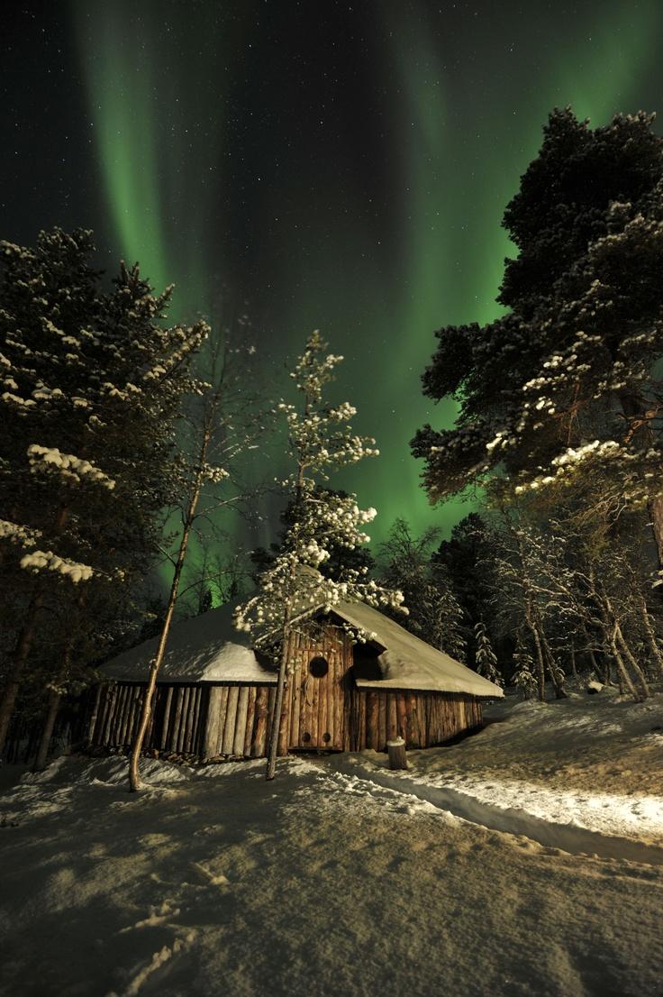 Auroras boreales desde Inari, Finlandia.-