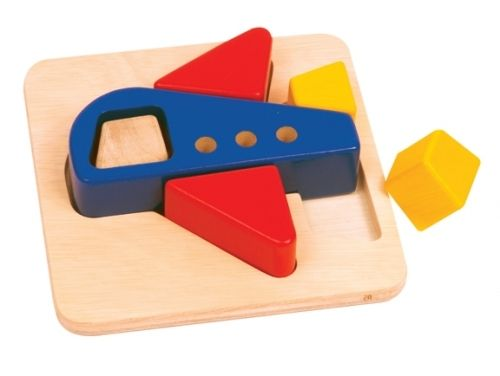 Guidecraft Primary Puzzle - Plane. The big, chunky pieces of these colourful puzzles are easy for toddlers and preschoolers to grasp. Suitable for children 12 months+ $16.00 #educationaltoys #toddlerstoys #toys