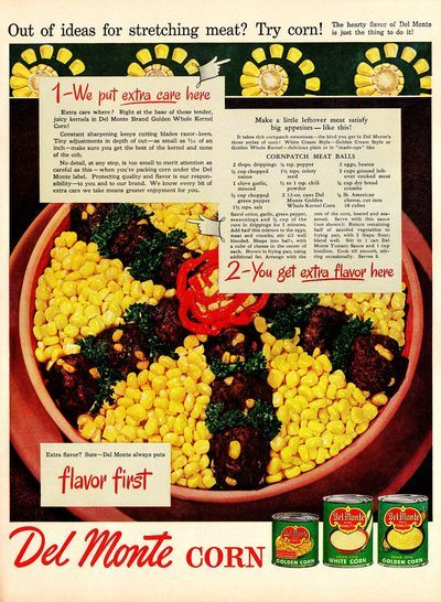 Cornpatch Meatballs 1947 | Hey, My Mom Used to Make That