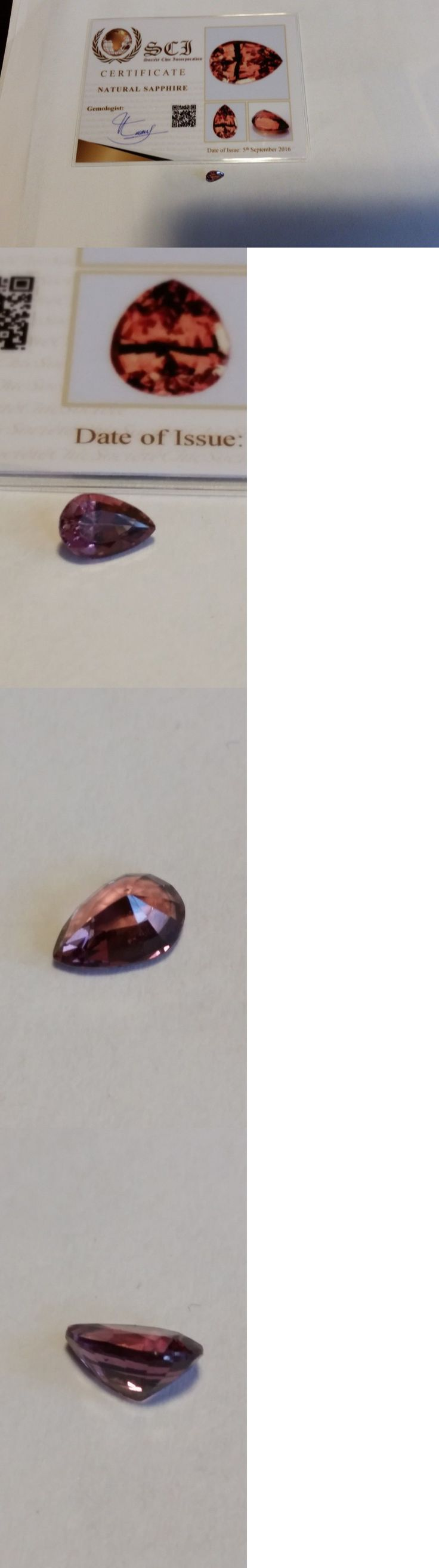 Natural Sapphires 4644: Natural Loose Peach Sapphire Pear Shape 1.05 Ct Madagascar Certified -> BUY IT NOW ONLY: $395 on eBay!
