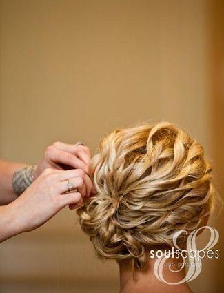 Wedding hair idea.