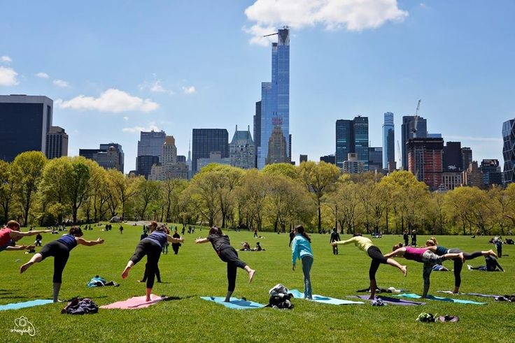 travel photography nyc new york city usa america central park yoga joga relaxing relax meditation asana group woman women green