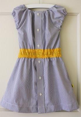 Girl's dress from men's shirt tutorial luvinthemommyhood: sunshine in a dress