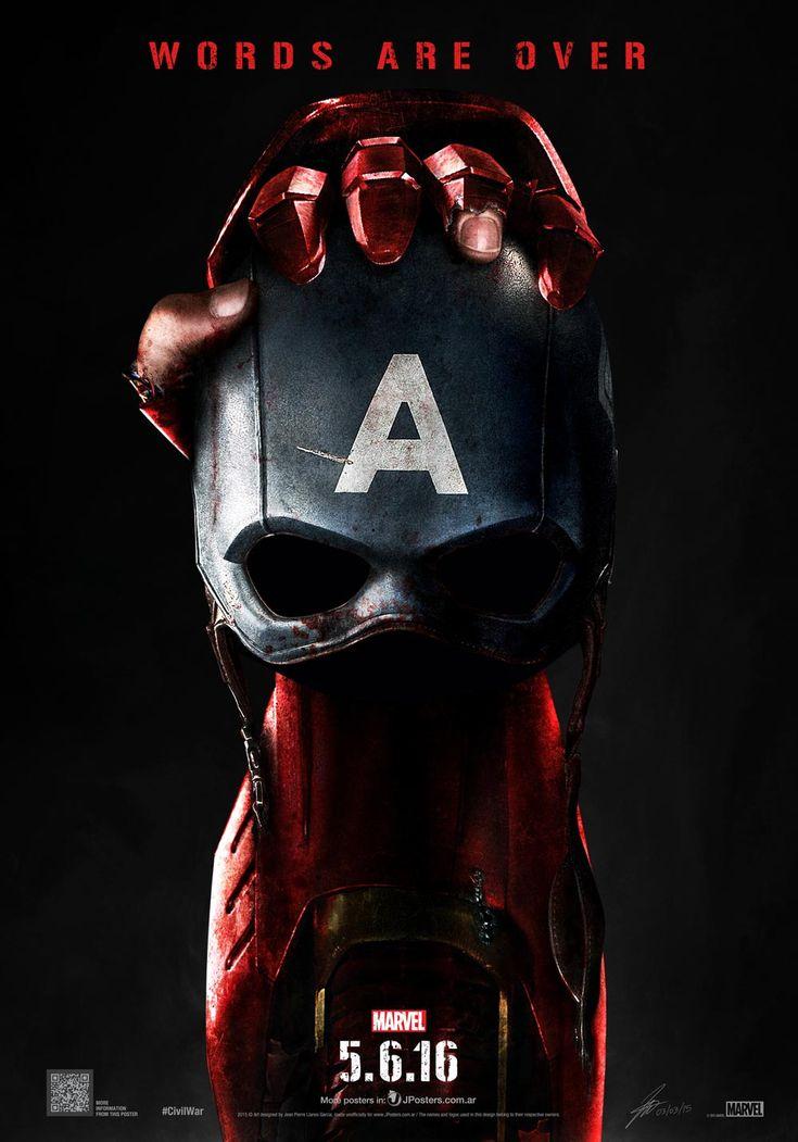 """""""Первый Мститель: Гражданская война"""". Фанатский постер"""