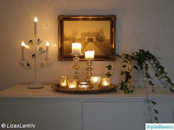fotografi,linneskåp,finrum,lantligt,ljusstake