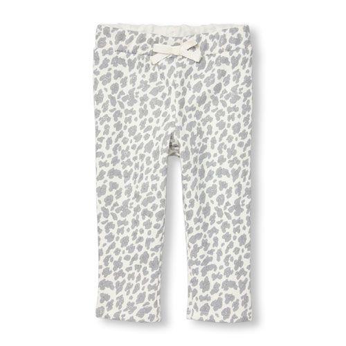 e0d789025fb6 Toddler Girls Active Glitter Leopard Print Pants | The Children's Place