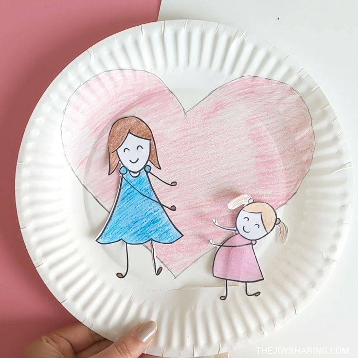 Mother Child Love Paper Plate Craft