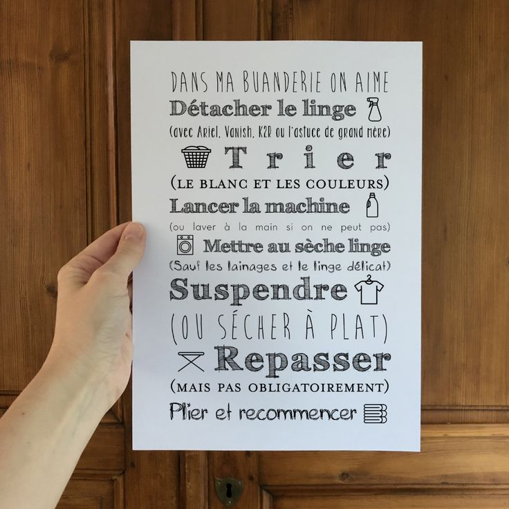 Affiche Buanderie latelier-typodeco… atelier Atelier.typodeco Création d'affi…