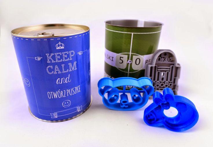 Puszki z wydrukami 3D i zabawną etykietą, pomysł na prezent! http://3dpoint.pl/?page_id=15647