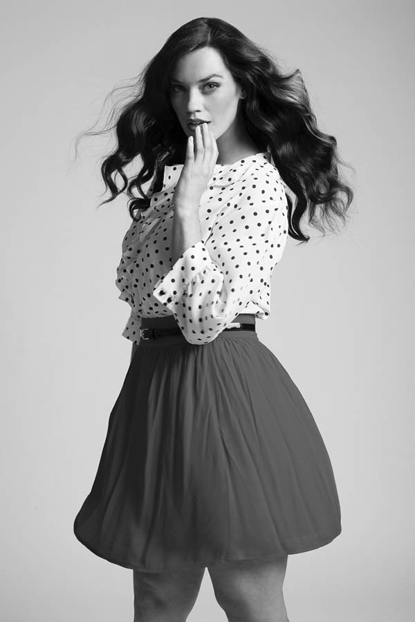 the iconic curvy look book laura wells summer spring 2012 #style #skirt #polkadots