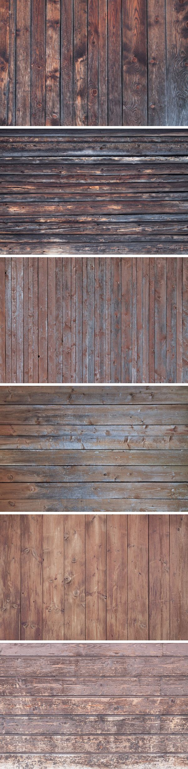 Here is a new collection of 6 original photos of aged wood, that can be used as textures in vintage styled designs...