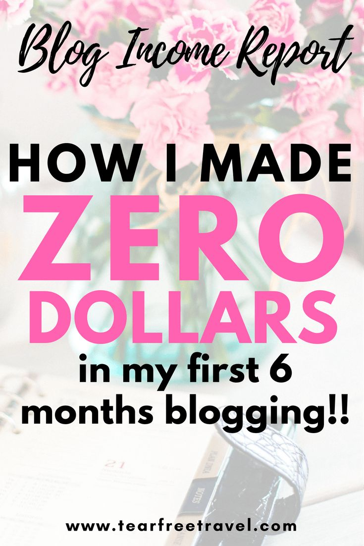 An honest blog income report. Blogging for beginners. Do all blogs make money? How easy is it to make money on a blog? Most bloggers don't make money in their first year of blogging. See what I spent and what I made in my first 6 months blogging. #blog #blogging #blogincomereport #blogincome #makemoneyblogging #blogincomereport2017 #bloggingforbeginners