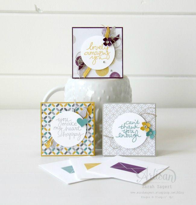 Moonlight Designer Series Paper 3x3 cards. ~ Sarah Sagert
