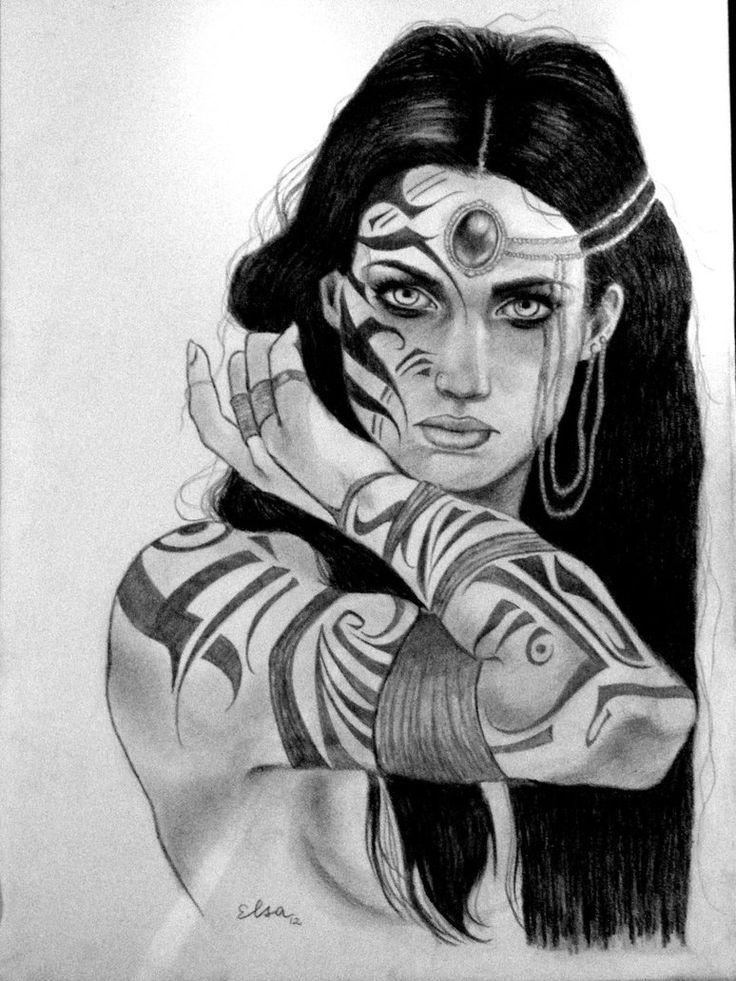 Native American looking princess warrior