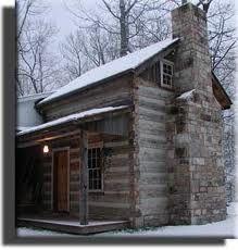 Antique Hand Hewn Log Cabin