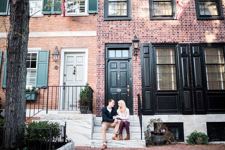 Delancey Street, Society Hill Engagement Photos, Philadelphia Wedding Photographer