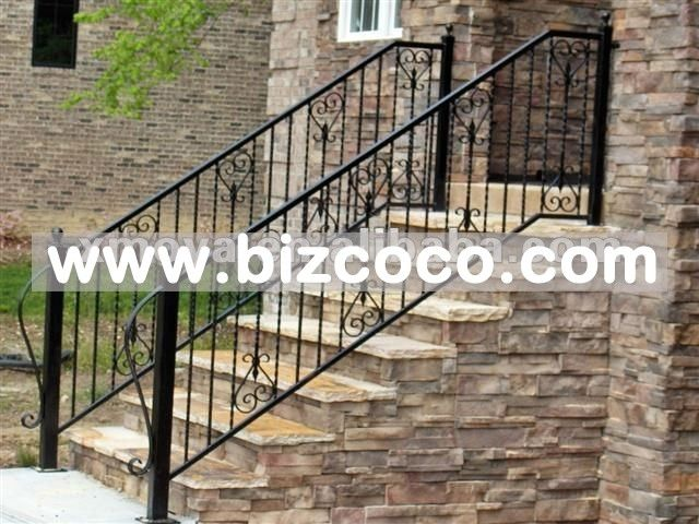 Best Stair Cases With Wrought Iron Outside Wrought Iron Hand 400 x 300