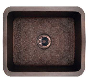 """Copperhaus 21"""" x 19"""" Rectangular Undermount Kitchen Sink"""