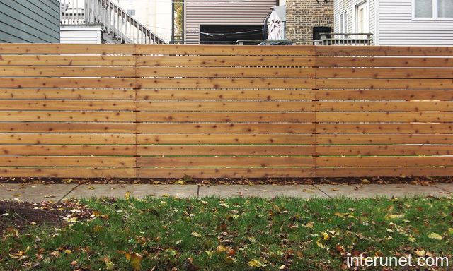 horizontal fence design fences fence cedar horizontal. Black Bedroom Furniture Sets. Home Design Ideas