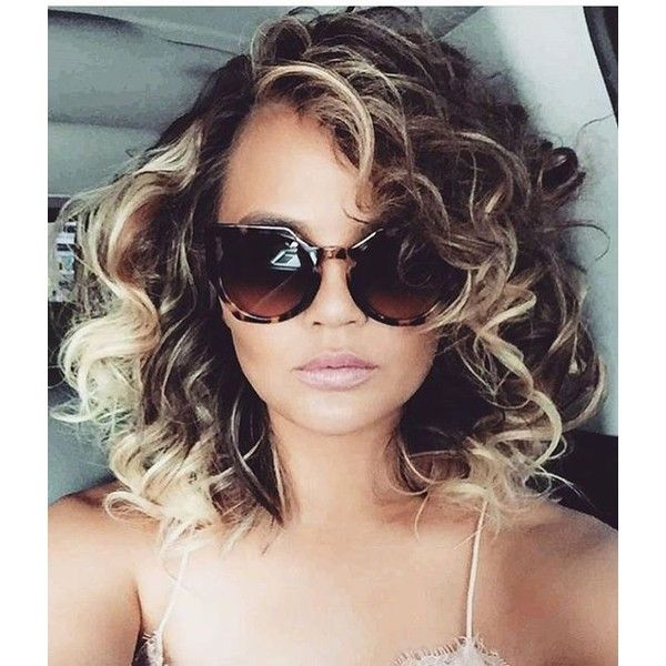 You *NEED* to See Chrissy Teigen With Uber-Curly Hair ❤ liked on Polyvore featuring accessories and hair accessories
