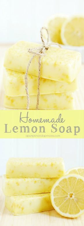 How to make lemon soap - this homemade lemon soap smells amazing and makes a lovely handmade gift! #homemadesoap
