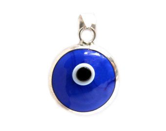 3 pcs 925k Sterling Silver Blue Evil Eye Pendant | Evil Eye Jewelry, Evil Eye Charm,Silver Evil Eye,Turkish Evil Eye,Greek Evil Eye -ME1000-