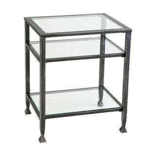 Bunch Metal Glass End Table | Overstock.com Shopping - The Best Deals on Coffee, Sofa & End Tables