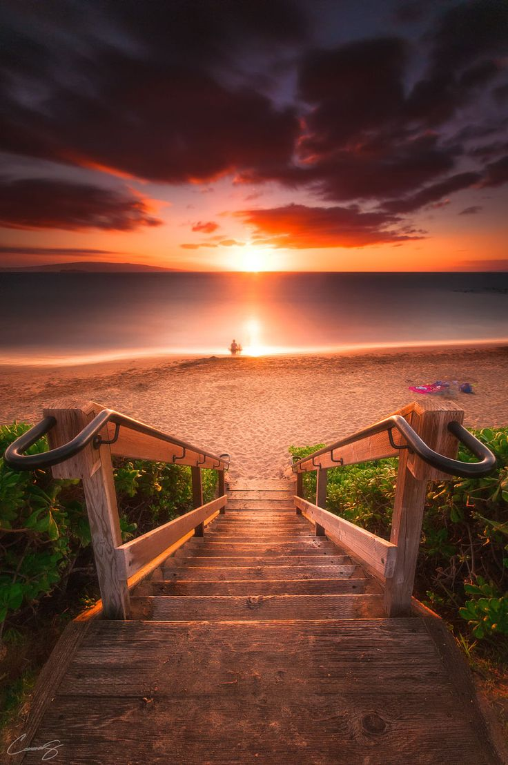 In HEARTBEAT, soul collectors travel from the Underworld to earth through the horizon Stairway To Heaven, Maui