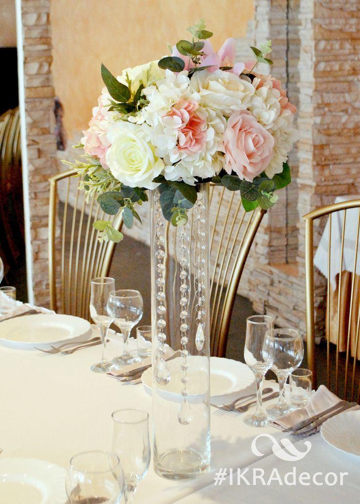 Wedding decoration 2017. Высокие цветочная композиция на гостевые столы. Стол гостей. Декор на стол гостей.