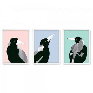 Set of 3 Backyard Beauties Wall Art Prints