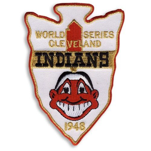 Part of the New Cooperstown Patch Collection of World Series winners, this is the 1948 Cleveland Indians World Series Patch who won over the Boston Braves 4 games to 2. Players began wearing a World S