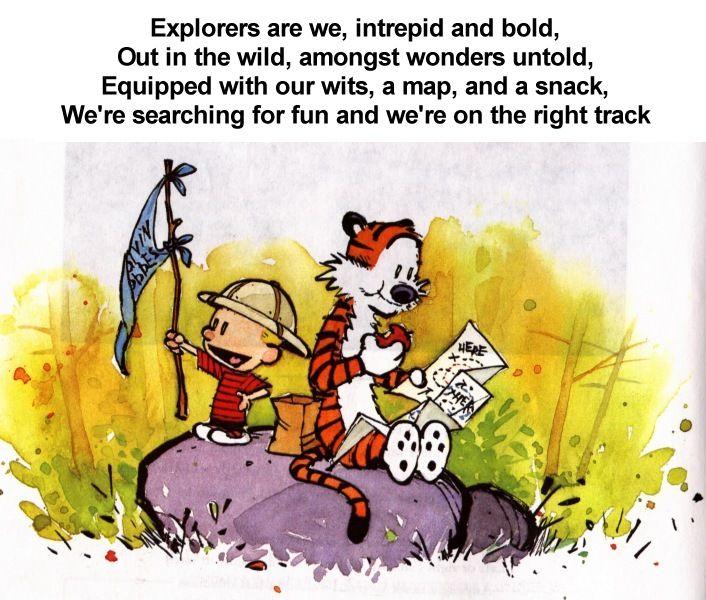 Explorers Calvin and Hobbes
