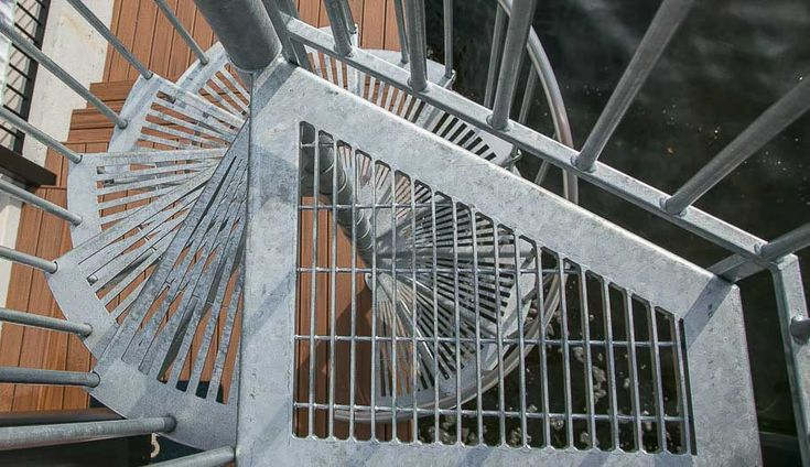 Best The Stratus Galvanized Open Grate Stairs Stairs 400 x 300