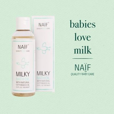 Naïf Bad Olie (Milky Bath Oil)