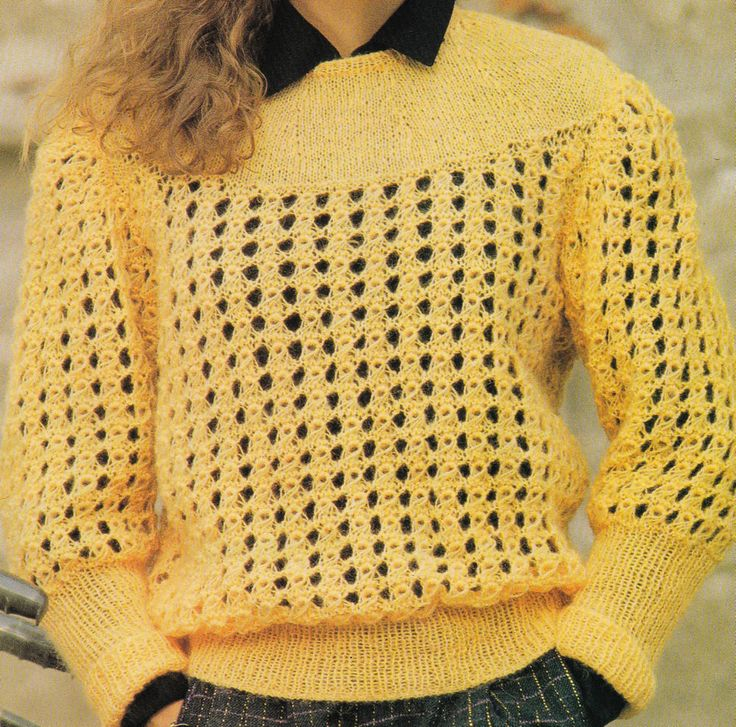 Vintage Knitting Pattern Instructions to Make a Ladies Jumper Sweater