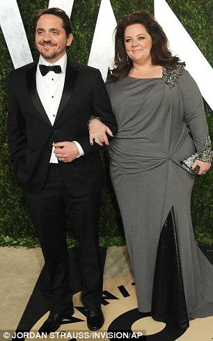 Oscars 2013: Melissa McCarthy and her husband Ben Falcone    MailOnline goes inside the Annual Vanity Fair Oscars bash | Mail Online