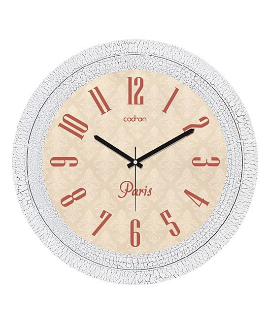 Vintage White & Beige Wall Clock